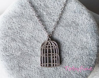 Birdcage necklace,Cry For Freedom choker