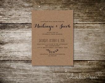 Simple Rustic Invitation Kit