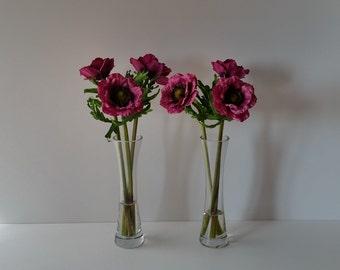Faux Silk Flower Arrangement Clear Glass By Anniethompsonflowers