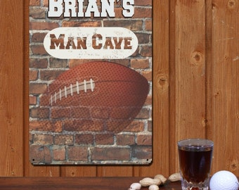 Football Sign, Personalized Man Cave Sign, Man Cave Decor
