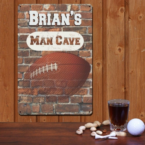 Man Cave Decor Etsy : Football sign personalized man cave decor