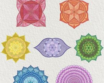 Chakras Coloring Bundle #0006