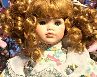 "Easter 17"" Porcelain Doll"