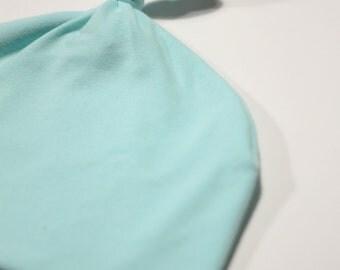 hats / bonnet to node for baby / doll - light blue / cyan