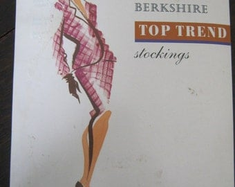 Vintage Stockings, Berkshire Top Trend Stockings, Tuscany Shade, 60 Denier Stockings, Dark Brown Stockings, Unseamed Stockings