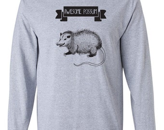 Awesome Possum rodent cute funny college party retro cool new humor animal - Long sleeve shirt - apparel clothing - IIT378