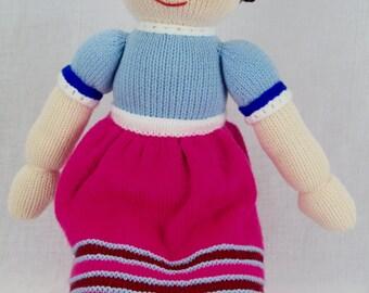 Jean Greenhowe - Jemima Jane - Rag Doll - Knitted Doll - Jemima Jane & Friends