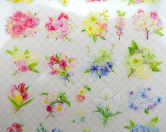 Flower stickers - floral stickers - flower bouquet - plant stickers - peonies - rose stickers - lilies - mums - tulip stickers - planner