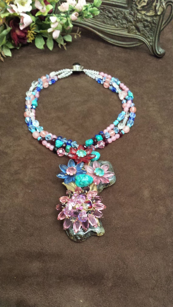 three strand petronella designs favorite beaded necklace with