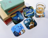 Artist Coasters - Famous Artists - Gift Coaster Sets - Decorative Coasters - Beverage Coaster Set - Square Drink Coaster