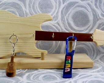 Guitar, Strat, Keyrack, Key Rack, 7 hooks, Keychain rack