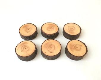 Wood Magnets - Set of 6 - Rustic