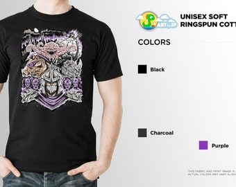 TMNT Shirt | Teenage Mutant Ninja Turtles | PREMIUM QUALITY | Shredder | Bebop | Rocksteady | Krang | Villlain | Geek | T-Shirt | clothing
