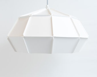 ODE10 pendant light, minimalist lamp out of cardboard