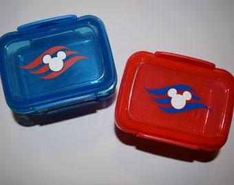 Storage Container with Lock Top Lid Disney Cruise DCL Fish Extender FE Gift Mickey