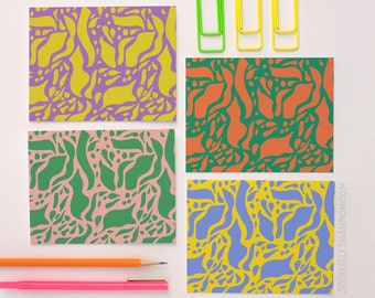 Stylish Stationery, Cute Notecard Set, Boxed Stationery Set, Blank Notecard Set of 8 A2 Greeting Cards