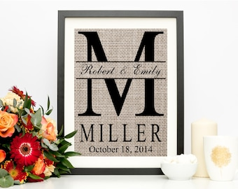 Personalized Wedding Gift for Couple | Bridal Shower Gift | Rustic Wedding Decor | Engagement Gift