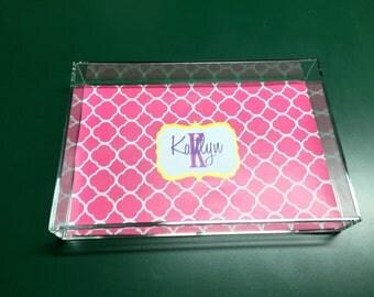 Acrylic Vanity Tray - Personalized Tray - Acrylic Tray - Monogrammed Gift