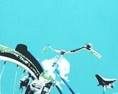 SILKSCREEN PRINT: 'Bike Ride', Illustration, Art, Hand-made, Original, Limited Edition