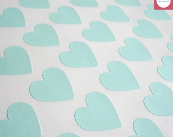 Heart Stickers 108, Pastel Green Favor Stickers, Mini Heart Stickers, Envelope Seals, One Sheet.