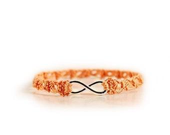 best friend bracelet - Friendship bracelet - Infinity bracelet - best friends - Crochet jewelry - Crochet bracelet - fabric bracelet