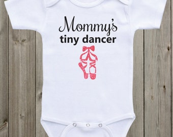 Mommy's Tiny Dancer Baby Girl Onesie Baby Girl Outfit Baby Girl Clothes Baby Shirt Newborn Outfit Glitter Shirt Baby Shower Gift