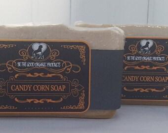 Natural Handmade Soap -- Candy Corn Soap