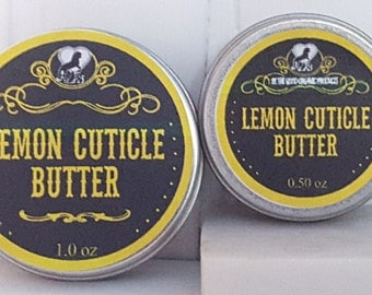 Natural Handmade Cuticle and Nail Butter --  Lemon Cuticle Butter