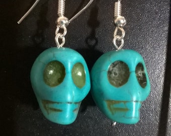 Day of the Dead Skull Halloween Earrings