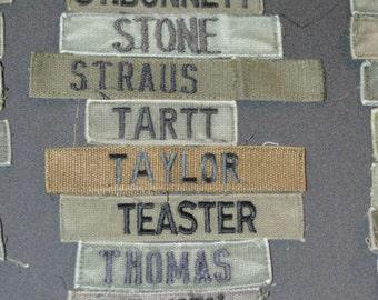 US Army Patch Name Tape Patch - Vintage Patch Uniform Patch Letters S-Z Vietnam Era Military Patch Shirt Patch Collectible Memorabilia e1