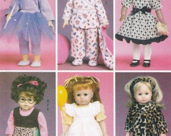 """18"""" Doll Clothes Sewing Pattern, 18 Inch Doll Costumes Sewing Patterns, Doll Clothes Pattern, Uncut Sewing Pattern, McCalls Crafts M6005"""