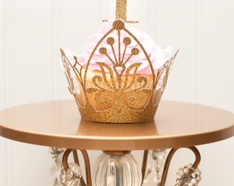 Gold Crown Cupcake Wrappers