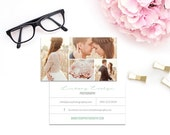 SALE! Photography Business Cards / PSD Template for Wedding Photographer /  Modern Photo Marketing Template