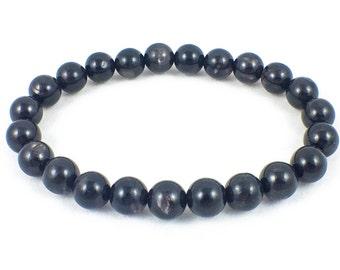 Men's Hypersthene Bracelet   Eulite Bracelet   AA Grade 8mm   Reiki Healing   Chakra Bracelet   Energy Bracelet