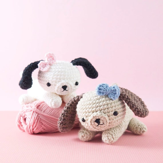 Amigurumi Dog Pattern : Amigurumi crochet puppy dog PATTERN ONLY by BubblesAndBongo