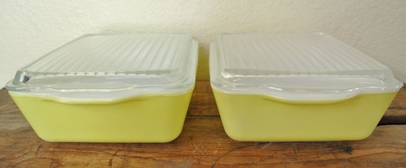 Pyrex Lemon Refrigerator Dishes Yellow Pyrex Covered Pyrex