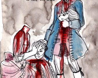 To Have And To Hold - 11x17 French Revolution Art Print