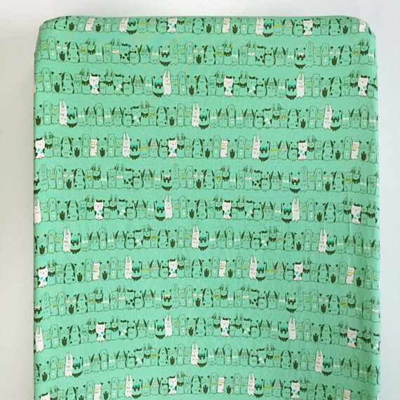 Changing Pad Cover >> Harajuku in green >> Nursery Decor >> ready-to-ship MIX