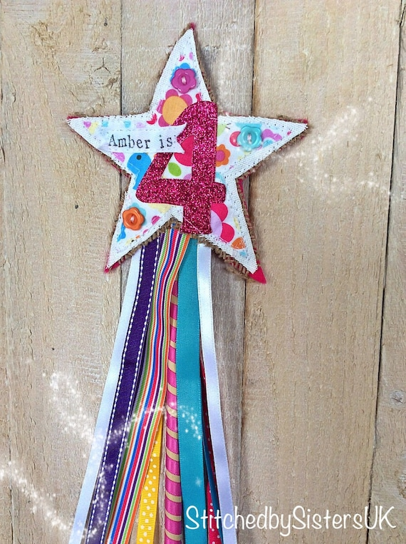Items similar to handmade birthday number fairy wand for Birthday wand