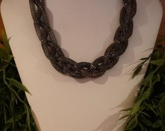 Three strand braided necklace