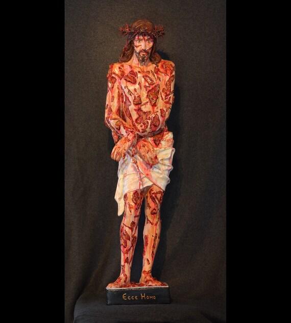 "Jesus Scourged 36"" Fiberglass Catholic Christian Religious Passion Statue"