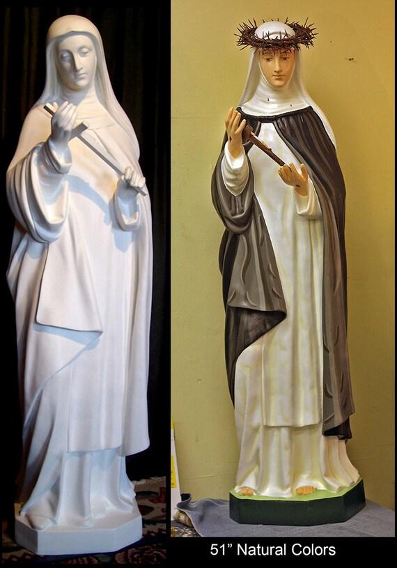 "St. Catherine of Siena Fiberglass 51"" Catholic Christian Religious Statue"