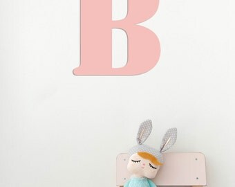 "12"" Large Nursery Letter ""B""  / Wall Metal Letter / Nursery Letters / Baby Gifts / Wedding Gift"