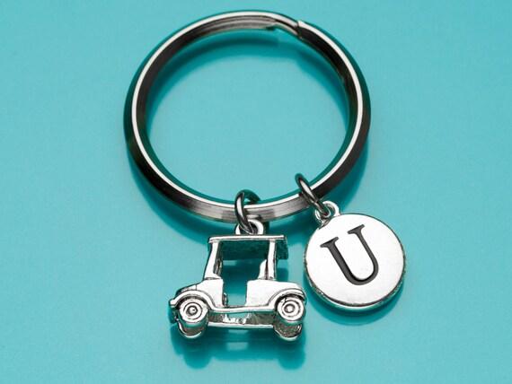 golf cart keychain golf cart key ring golf charm sport. Black Bedroom Furniture Sets. Home Design Ideas