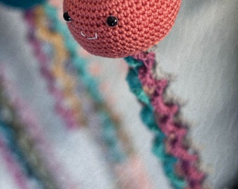 Crocheted Jellyfish Mobile | Coral