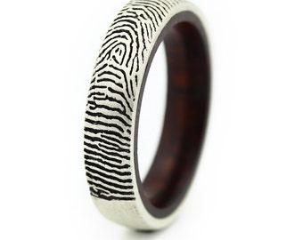 Mens Fingerprint Wedding Band