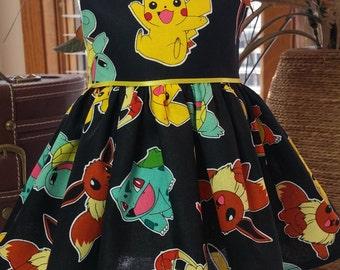 Pokemon Pikachu dress fits 18 inch dolls including American Girl Doll