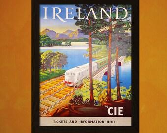 Ireland Travel Print - Vintage Travel Poster Ireland Poster Wall Decor Home Decor Vintage Ireland Travel Poster  t