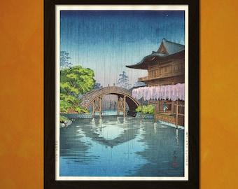 Japanese Art - Tsuchiya Koitsu Artwork - Ukiyo-e Art Home Decor Oriental Decor Asian Art Edo Period Japanese Artist Temple   Reproduction