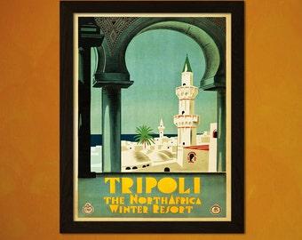 Tripoli Lebanon Travel Poster - Vintage Travel Print Tourism Wall Decor Retro Poster Vintage Lebanon Poster  t
